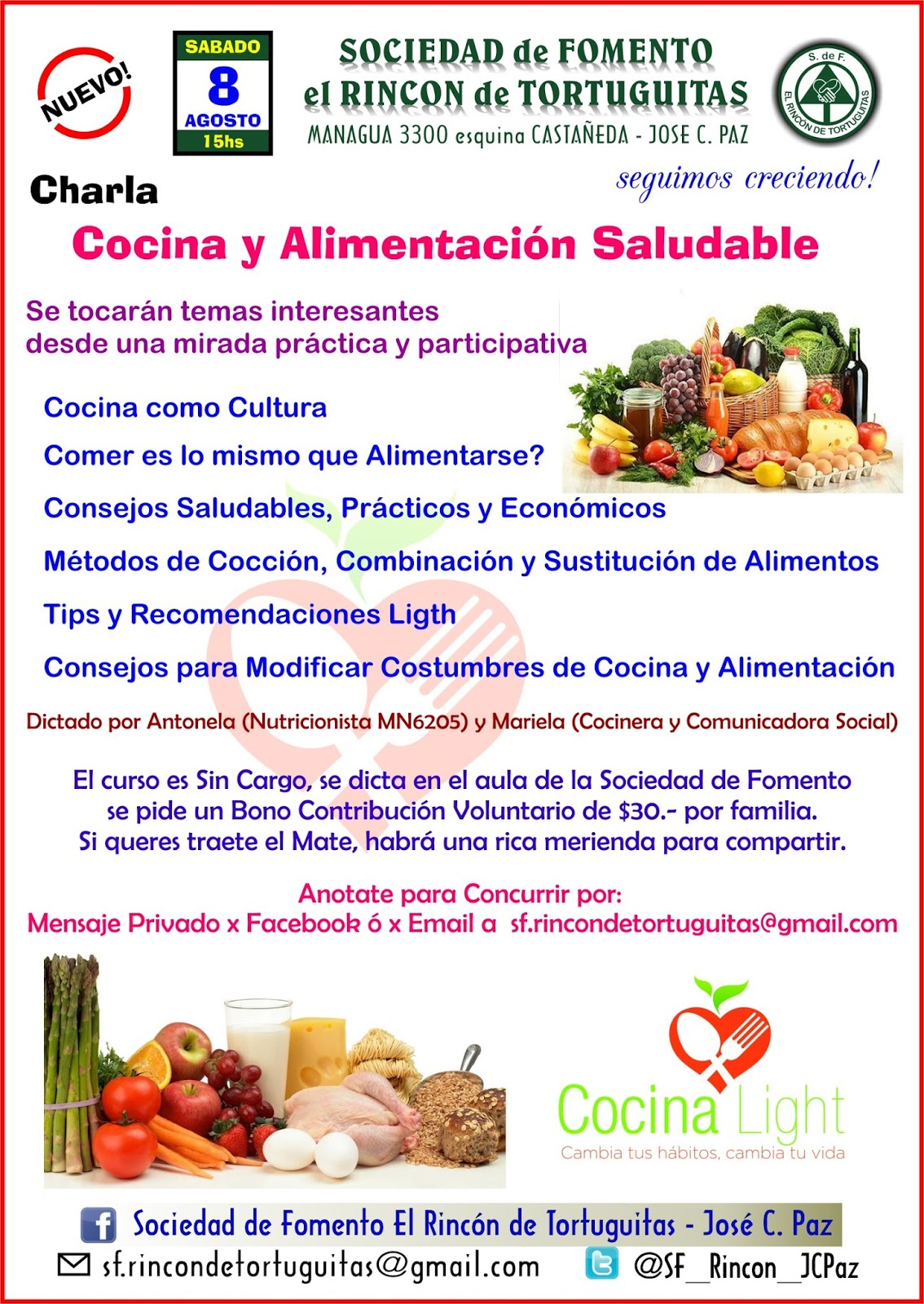 COCINA LIGHT: Charla sobre Cocina y Alimentación Saludable en ...