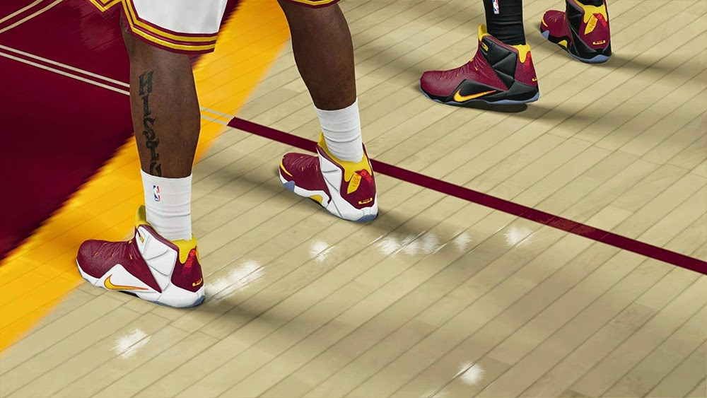 NBA 2K15 Nike LeBron 12 Shoes