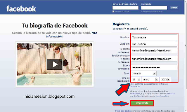 crear facebook