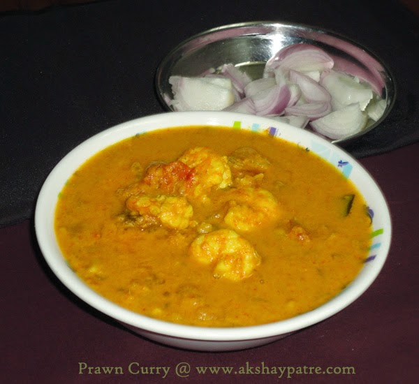 shrimp curry is ready to serve