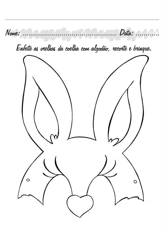 Pedagógiccos Máscaras Do Coelho E Da Coelha Da Páscoa