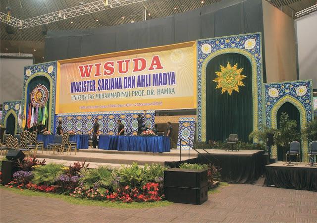 backdrop untuk Kegiatan WISUDA UHAMKA