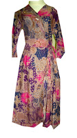 Dress Batik Pink Pendek Rosmalia