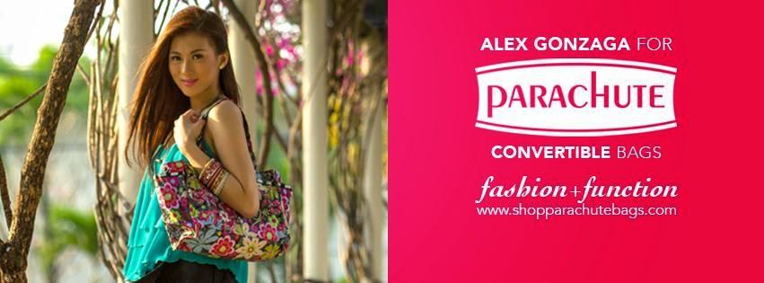 alex gonzaga, parachute bags