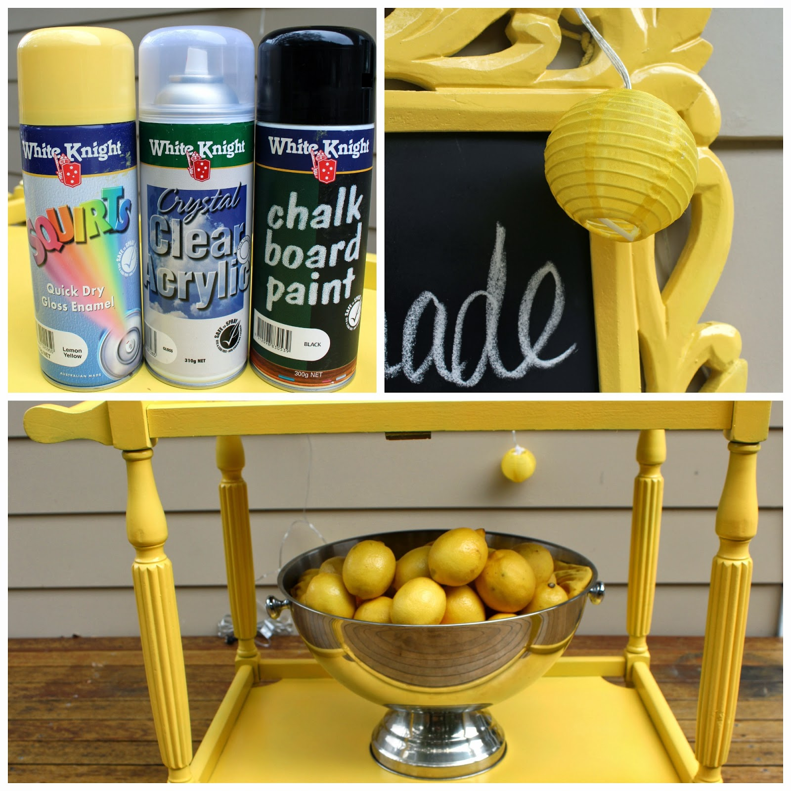 How to Make an Easy Lemonade Stand and A Paint Giveaway