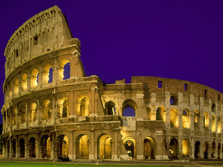 The Colosseum at Night, Rome, Italy Pictures