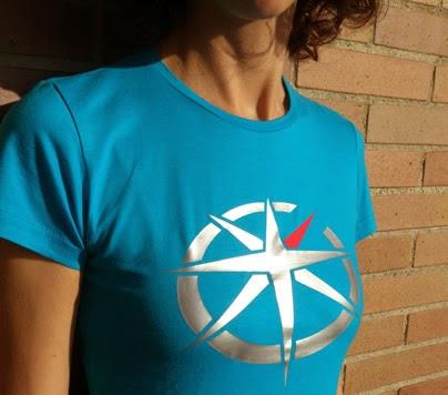 camiseta Tshirt teestart coleccion B Blue Aqua estrella y fondo azul