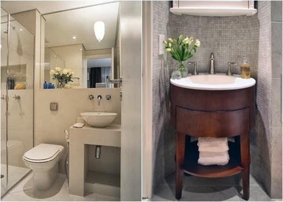 Todo Mundo Casa Dicas para Banheiros Pequenos -> Banheiro Decorado Com Espelho Grande