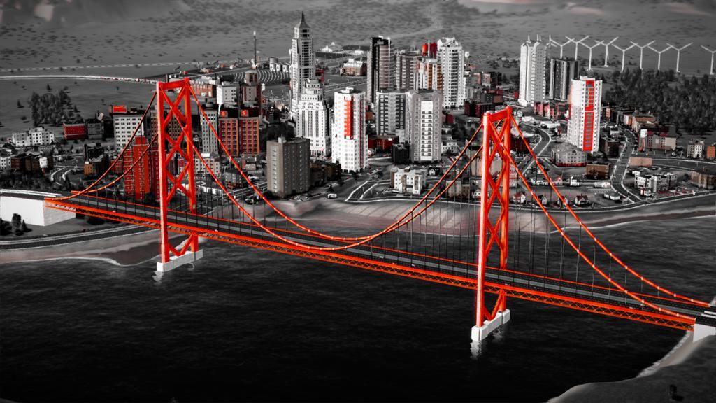 красивый мост - использование фильтров в SimCity