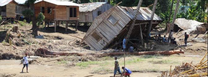 52 000 personas afectadas después de las graves inundaciones que golpean las Islas Salomón, 11 de Abril 2014