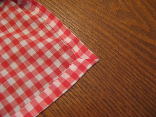 DIY Gingham Travel Picnic Blanket