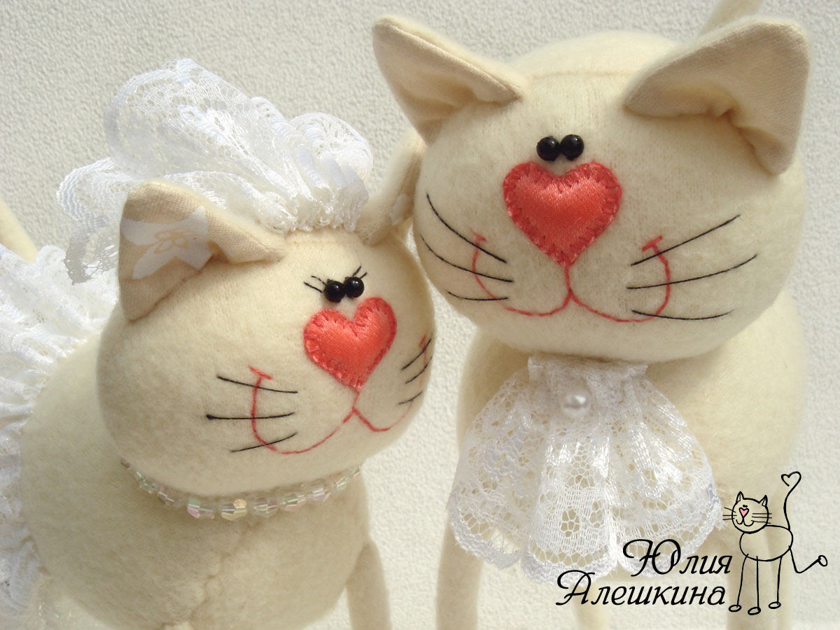 Кукла тильда коты обнимашки 3