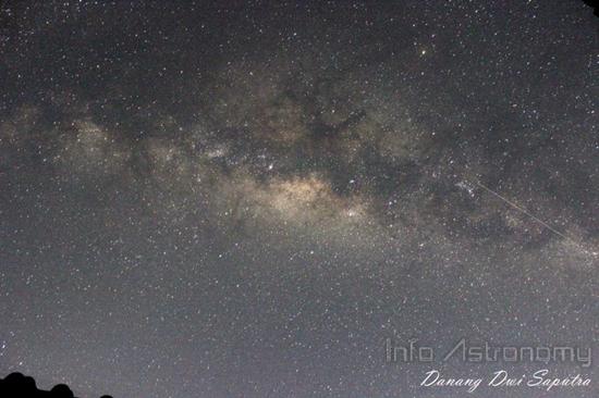 Bentangan Galaksi Bima Sakti di Langit Indonesia