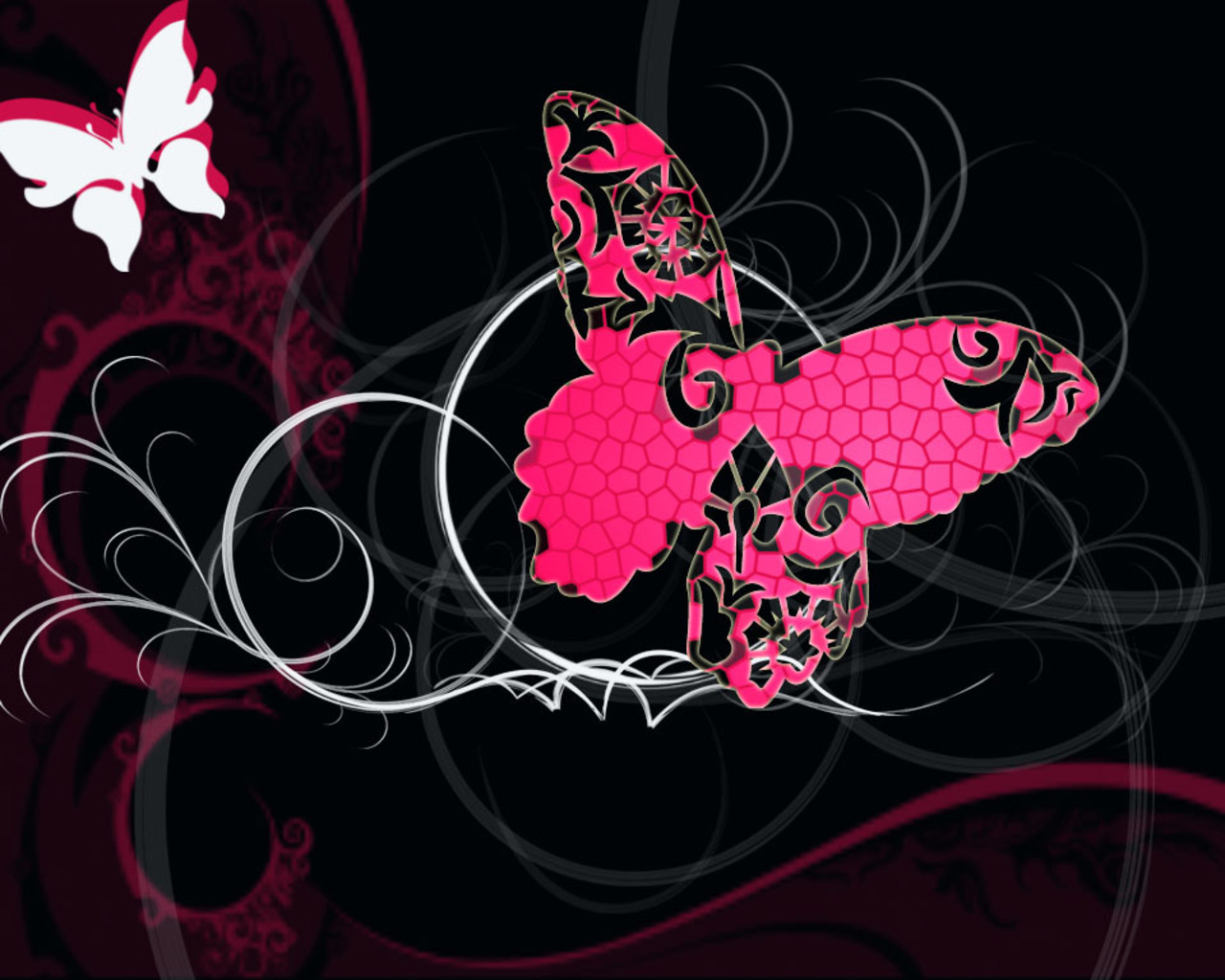 Pink and Black Butterflies