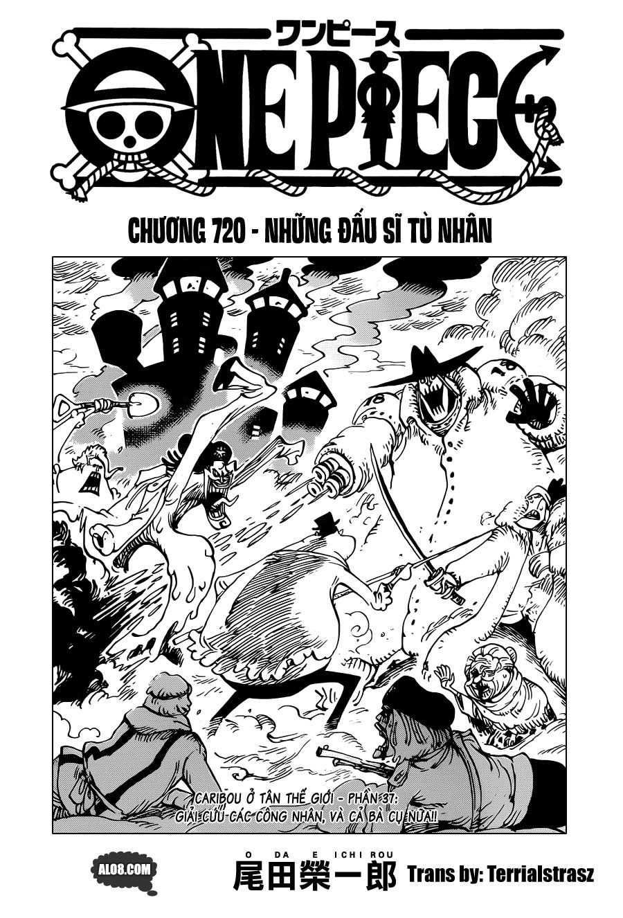 One Piece Chapter 720: Những đấu sĩ tù nhân  001