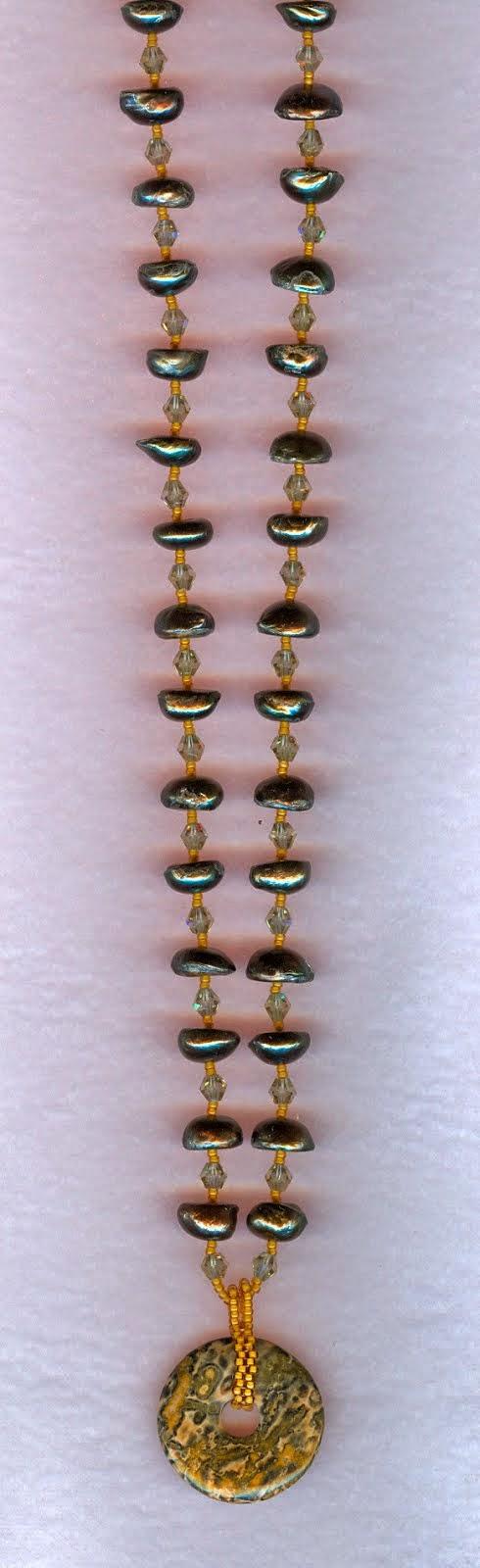 chita stone and fresh water pearls