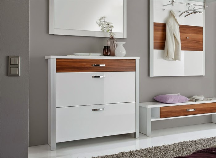 modern furniture white shoe storage cabinet with mirror and bench