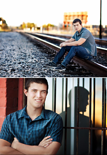 Senior portraits of teen male with excellent use of natural lighting