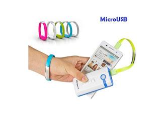 Kabel Data Bisa jadi Gelang (micro usb to usb)