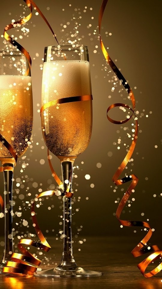 2015 Happy New Year Champagne Celebration  Galaxy Note HD Wallpaper