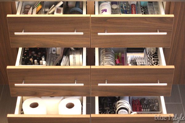 Incroyable Organized Bathroom Drawers