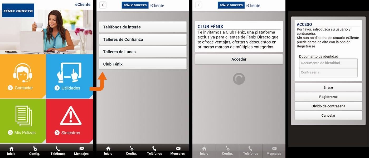 Fenix Directo app eCliente Club Fénix