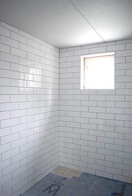 Kakel Till Gratt Kok : Vi valde vitt, sl?tt, blankt kakel 10×30 till ...