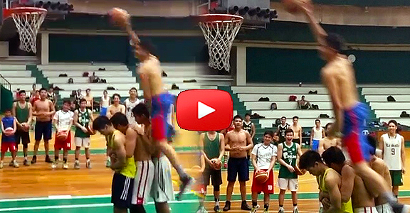 Kobe Paras DUNKS Over Three People (VIDEO)