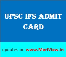 UPSC Forest Services Admit card