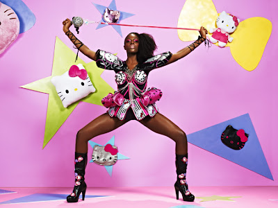 Hello Kitty themed couture gown dress on America's Next Top Model