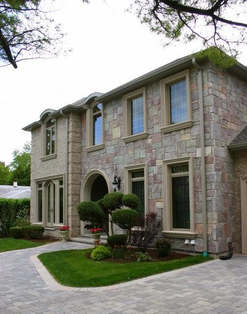 Fachadas de piedra fachadas de casas con piedra laja - Casas con fachadas de piedra ...