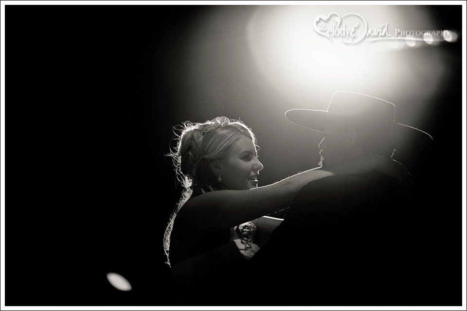 black and white shot of the first dance