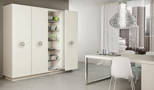 modern white and clean kitchen interior design sample pictures