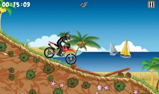 Bike Xtreme: A Fun Free Android Bike Game! In the game you control a motor on an area with all kinds of obstacles.
