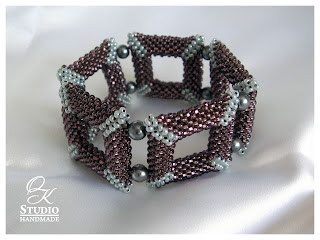 браслет из бисера из квадратов