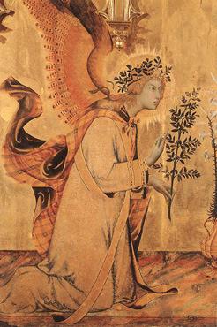 En la imagen San Gabriel Arcangel en el momento de la Anunciación a la Virgen Maria.