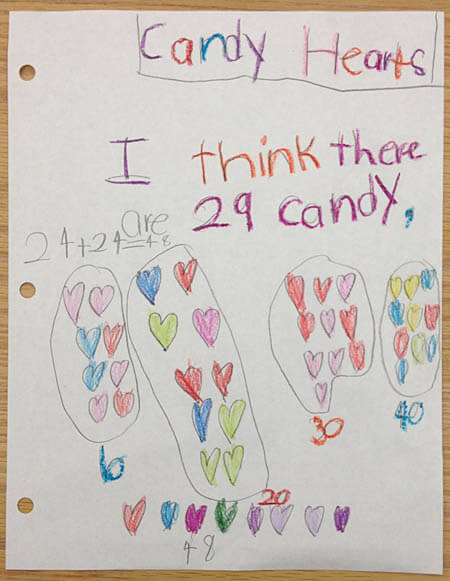 Student copy of conversation heart estimation and counting