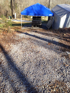The new driveway