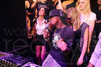 fotos de lil wayne chris brown tyga lil twist young money YMCMB en el club live