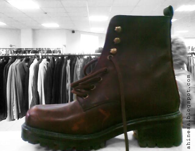 ботинок, кожаный сапог, секонд хенд, одна пара обуви