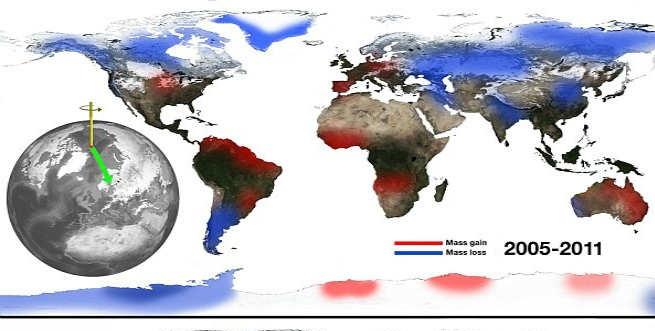 NASA: Ο άξονας περιστροφής της Γης μετανάστευσε προς τον Καναδά και τώρα πλησιάζει την Αγγλία (φωτό)
