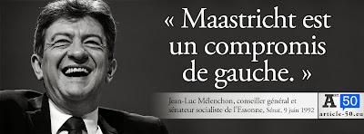 Jean-Luc Mélenchon : Maastricht est un compromis de gauche