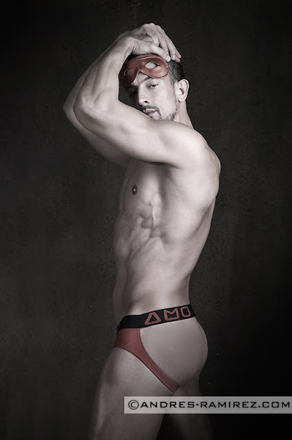 Jaime Abella by Andres Ramirez in AMU jockstrap
