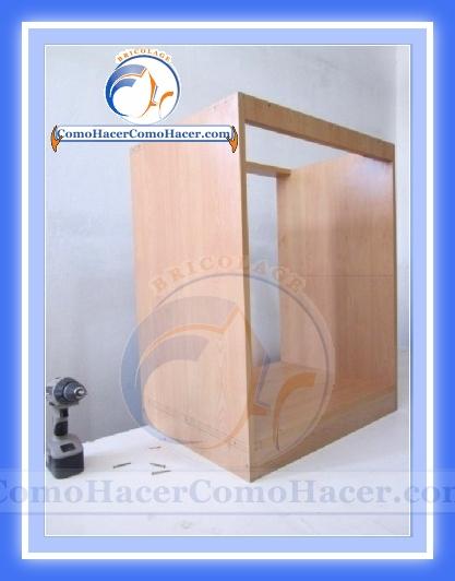 Modulo terminado para el mueble de cocina mueble bajobajo mesada