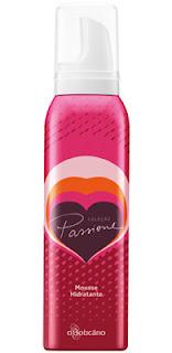 mousse hidratante desodorante corporal Linha Passione O Boticario