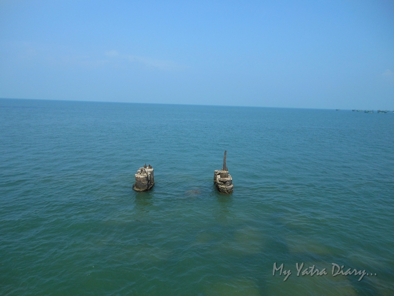 Crossing the Panbam straight from Rameshwaram Express train