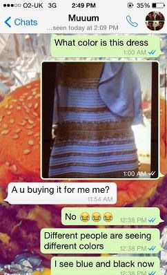 White and gold dress debate funny.