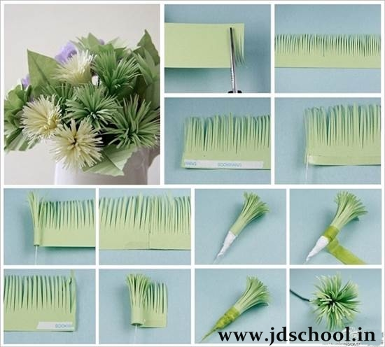 How to make easy and beautiful paper flowers crazzy craft paper flowers look just like natural flowers but last longer and wont wilt or droop thats why they are very popular decoration for home parties mightylinksfo