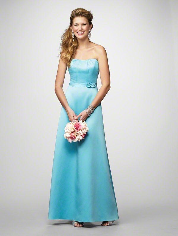 Raining blossoms bridesmaid dresses blue bridesmaid for Wedding dresses with color blue