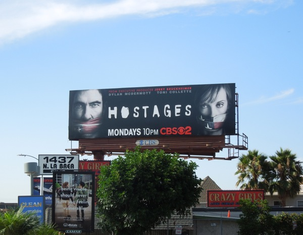Hostages CBS billboard